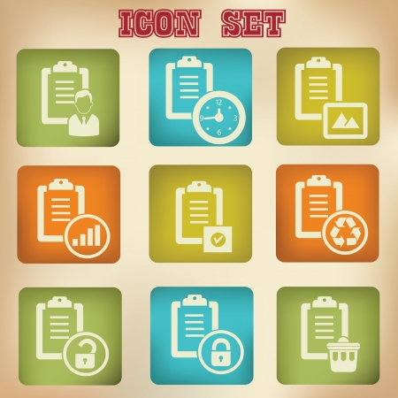 Documents vintage icons,vector Vector