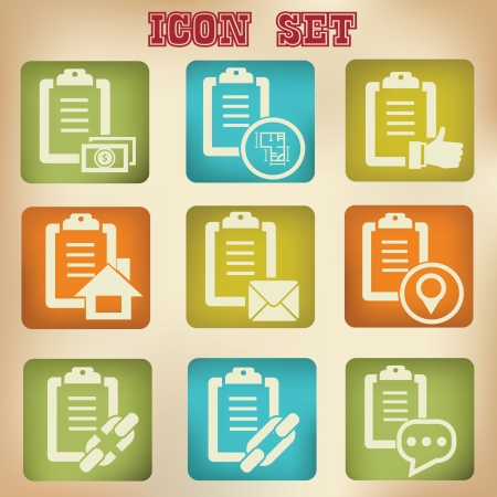 Documents vintage icons,vector Stock Vector - 20568440