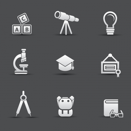 Education icon set Stock Vector - 20564864
