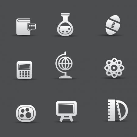 Science icon set Stock Vector - 20564863