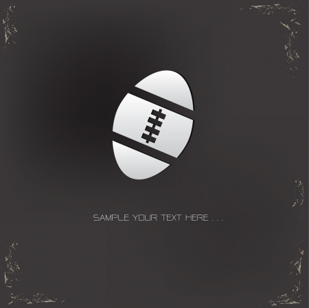 rugby ball: Rugby sign on grunge background