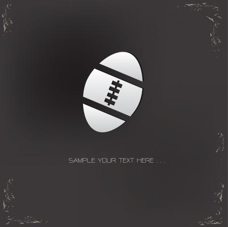 ballon de rugby: Signe de rugby sur fond grunge Illustration