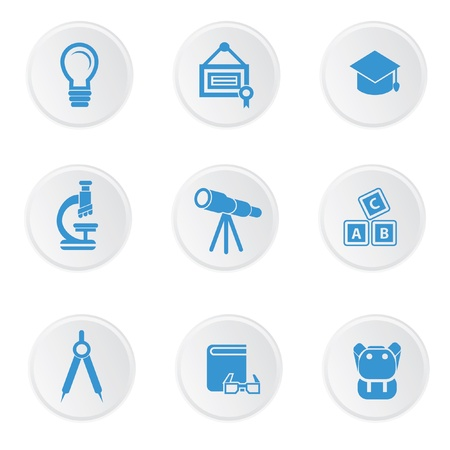 Education icons on white background,easy for use working Stock Vector - 20564855