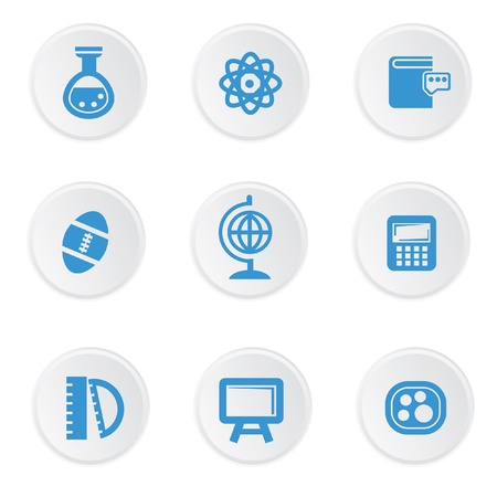 microscope: Science icons on white background,easy for use working