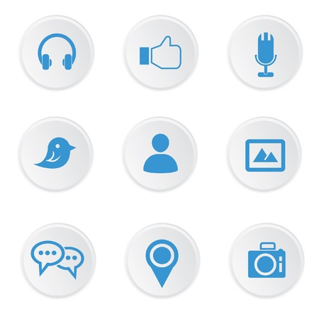 Social media icons,on white background,vector Vector