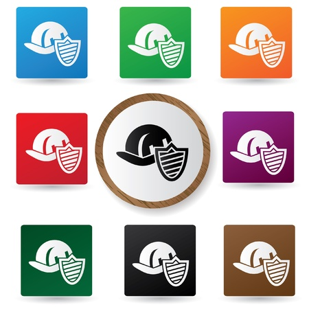 Safety hat sign Stock Vector - 20550940