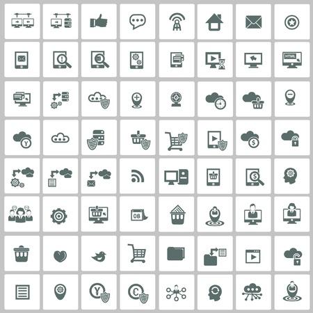 simgeler: 100 Sitesi ve ağ simge seti, vektör