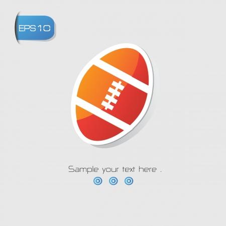 ballon de rugby: Ballon de rugby symbole