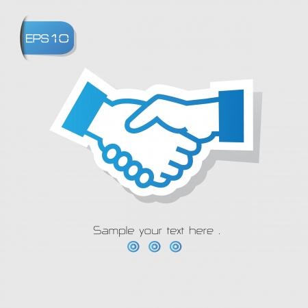 wrist hands: Shake hand symbol,vector