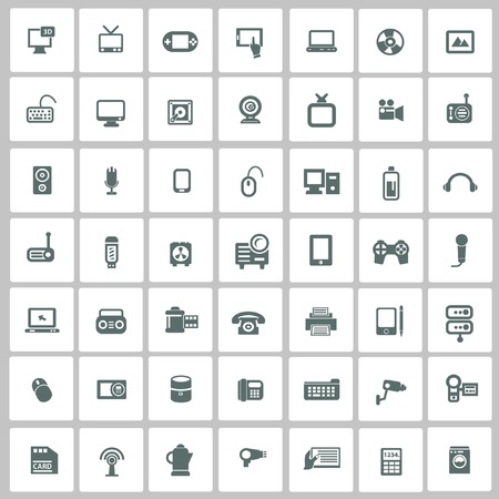 Electronics icon set Stock Vector - 20564907