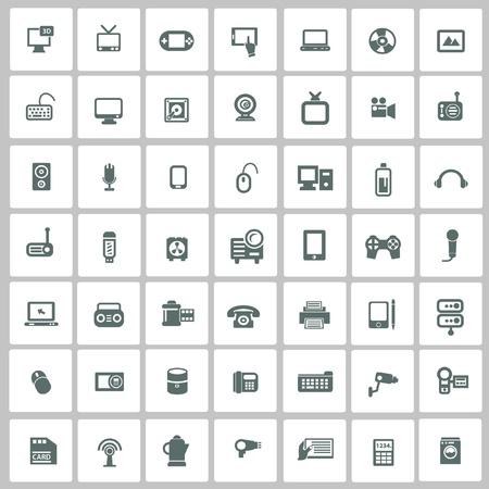 Electronics icon set Stock Vector - 20564907