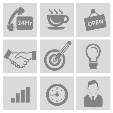 24 hr: Business concept icons