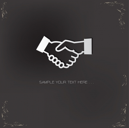 hand business card: Shaking hands symbol