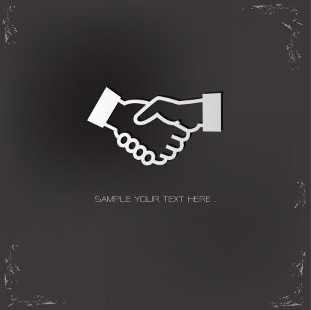 shaking hands: Shaking hands symbol