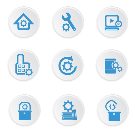 timekeeper: Engineer icons on white background Illustration