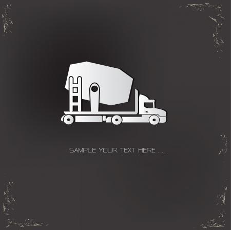 demolishing: Truck car symbol Illustration