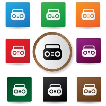 Radio symbol Stock Vector - 20564908