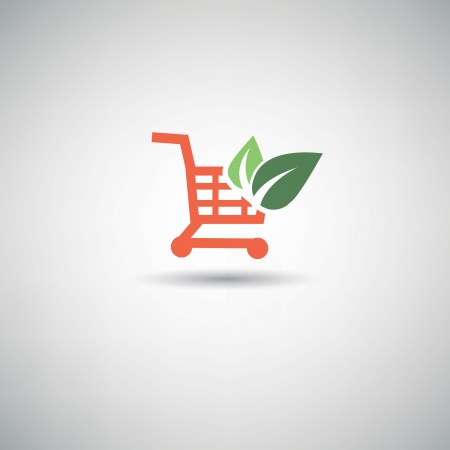 product cart: Ecology Shopping cart symbol