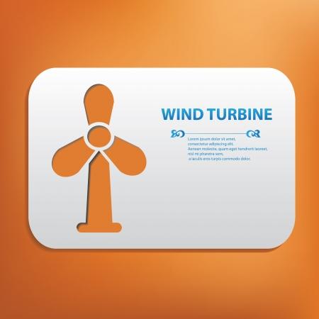 pollution free: Wind turbine symbol Illustration