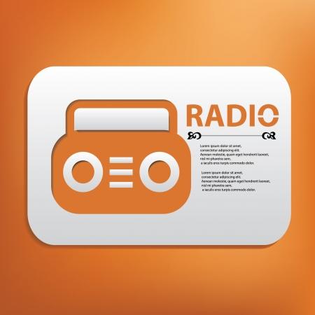 am radio: Radio symbol Illustration