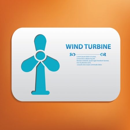 abstract mill: Wind turbine symbol Illustration