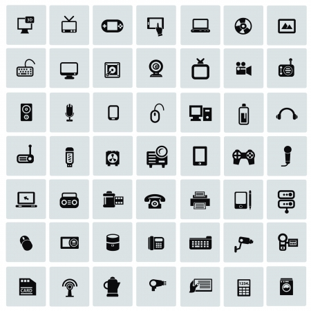 Electronics icons for web Vector