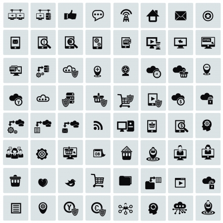 Website icons,Networking icons Stock Vector - 20565024