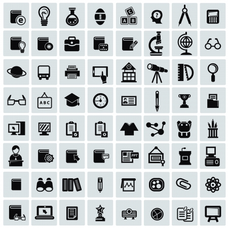 Education icon set Stock Vector - 20565033