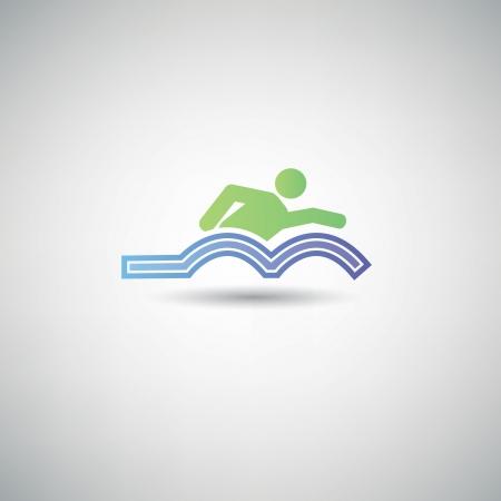 swim cap: Swimming symbol
