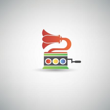 sub woofer: Old audio symbol Illustration