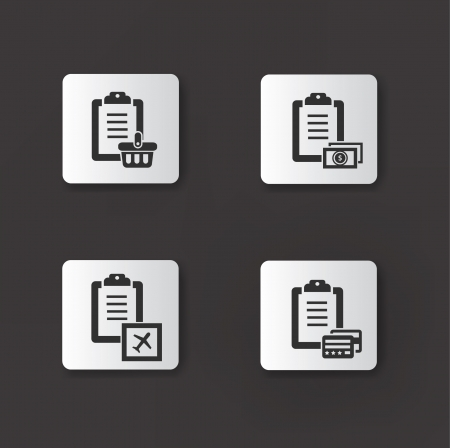 Document icon,set 01 Vector