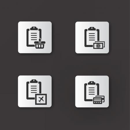 Document icon,set 01 Stock Vector - 20565080