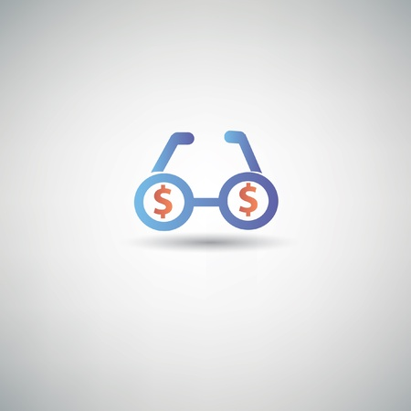 Zoom money symbol Vector