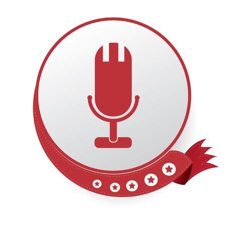 Microphone symbol Illustration