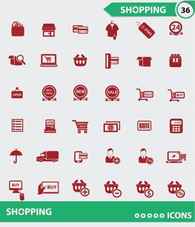 paying bills: Shopping icons,vector