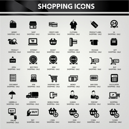 e shop: Shopping icons,vector