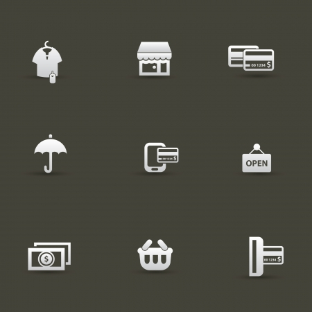 Shopping icons,vector  Stock Vector - 20617034