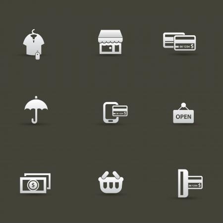 cash dispense: Shopping icons,vector