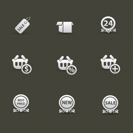 Shopping icons,vector  Vector