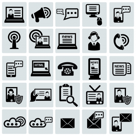 Communication icon set Stock Vector - 20616372