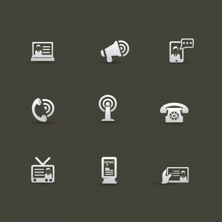 Communication concept icons Stock Vector - 20616364