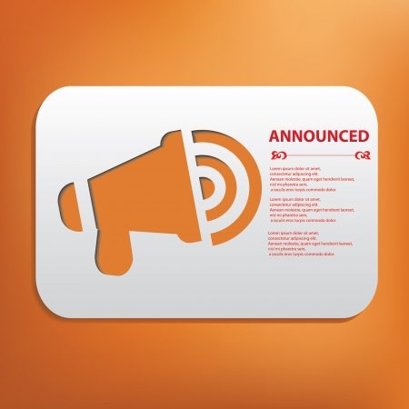 Announced symbol Stock Vector - 20606475