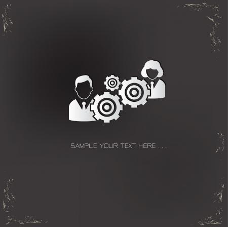 Gears human symbol Vector