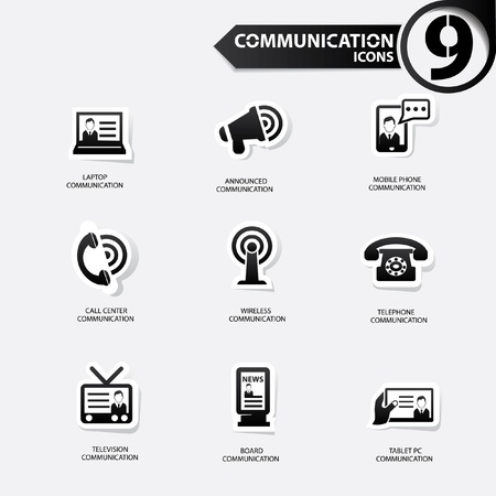 Communication icons Stock Vector - 20616388