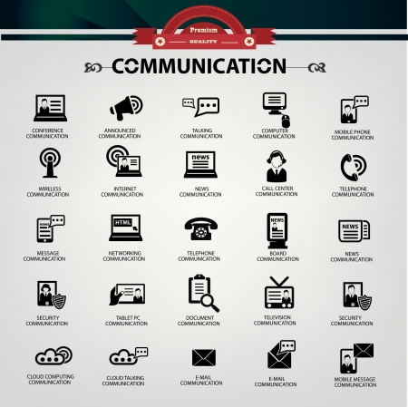 Communication icons Stock Vector - 20616621