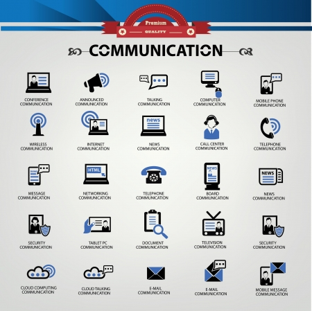 buble: Communication icons Illustration