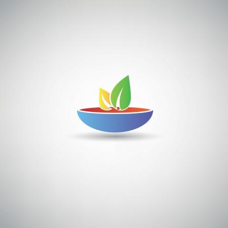 Healthy food symbol