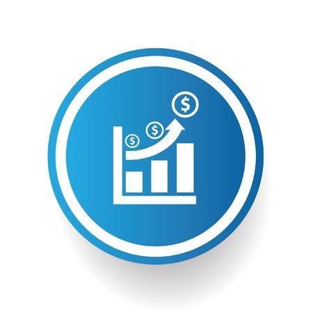 Money graph symbol Stock Vector - 20761703