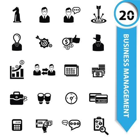gestion empresarial: Iconos de gestión empresarial Vectores