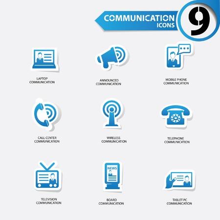 announced: Communication icons Illustration